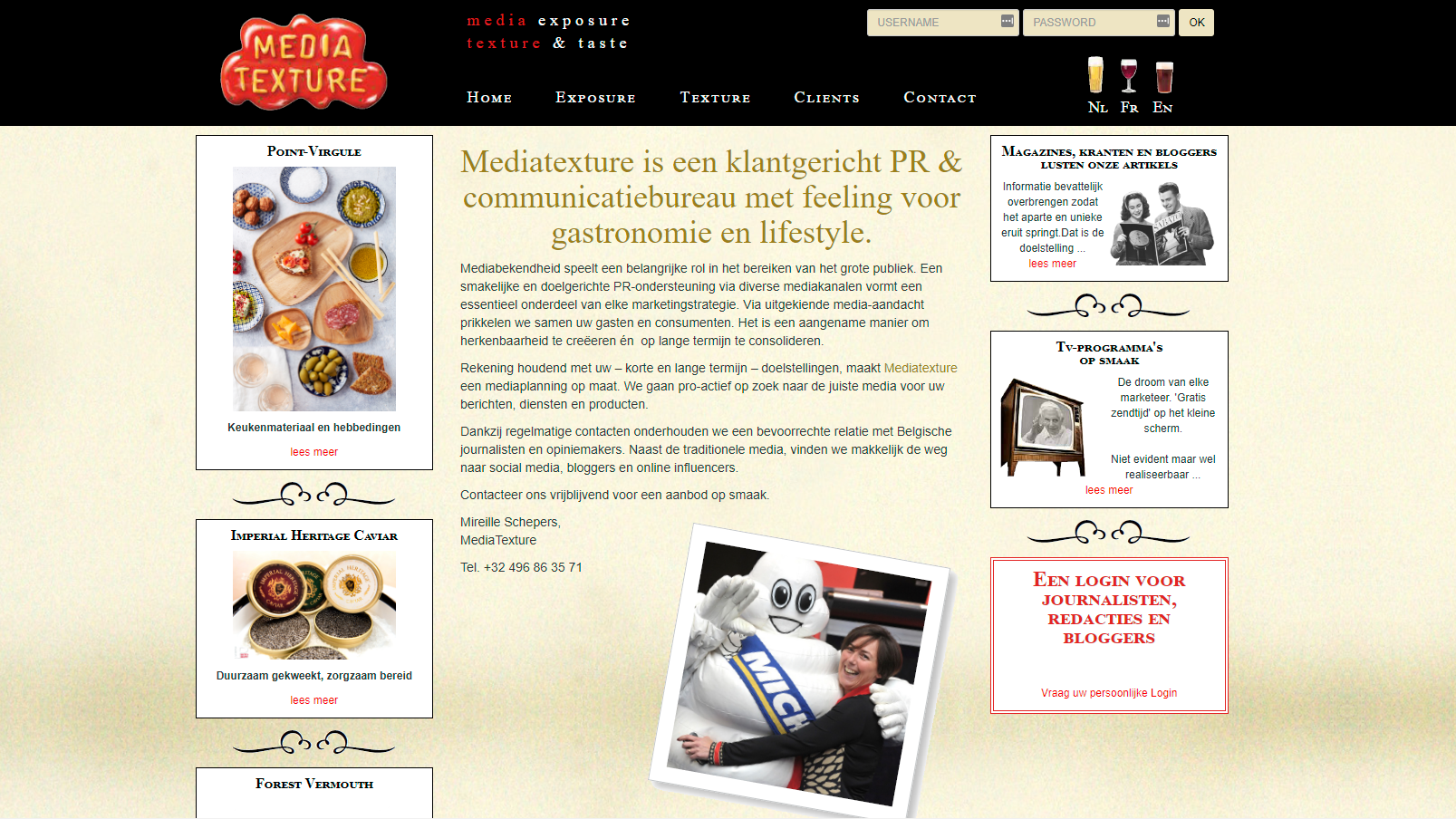Mediatexture foodmarketing