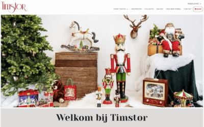 Website Timstor – Groothandel in kerstdecoratie